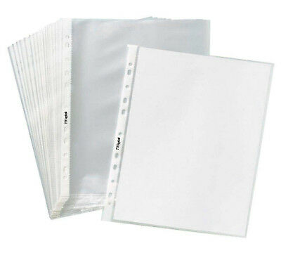 Clear Plastic Sheet Page Protectors 400Sleeves Document Office ACID Free 8.5x11""