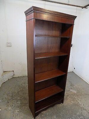 antique,style,open front,reproduction,mahogany,bookcase,adjustable shelves,books