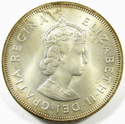 1959  Bermuda  Crown  Km# 13  Silver  Low Mintage - 100,000 !!!    MS Plus