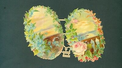Victorian Die Cut Scrap Very old FLOWERS ROSES WH 11257 ORIGINAL