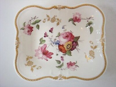 Exceptionally Well Painted Flowers Chamberlains Worcester - Coalport Dish C1820