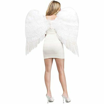 Angel Wings Feather White Adult Costume Accessory
