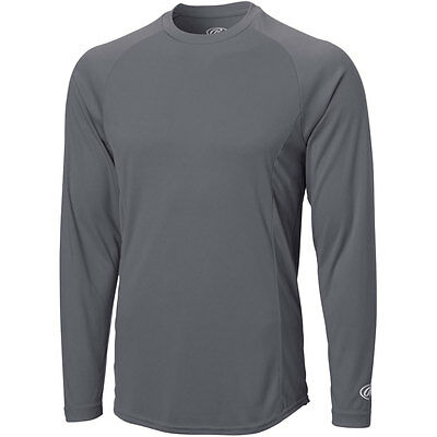 Rawlings Mens Crew Neck Performance Long Sleeve T-Shirt