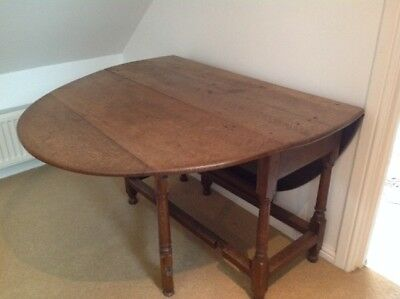 "Mid Georgian Oak Drop Leaf Kitchen Dining Table 58x42"" Max RRP £795"