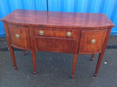 Georgian Petit George III Bow Fronted Mahogany Sideboard  blind Drawer and more