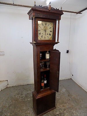 oak,cocktail cabinet,long case clock,drinks cabinet,shelves,clock,wine rack,wine