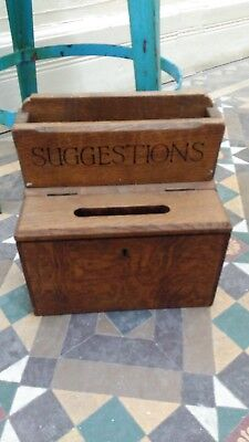 old suggestion box original wooden brown ex national trust