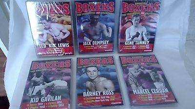 """DeAGOSTINI""""S BOXERS- SIX UNDISPUTED DVD COLLECTION -  DEMPSEY/ROSS/TUNNEY/LEWIS"""