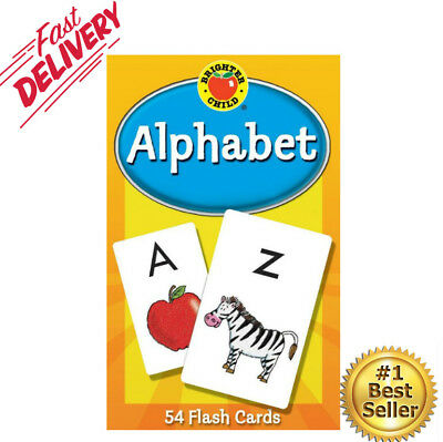 Flash Cards Alphabet First Words Educational Early Learning For Toddler And Baby