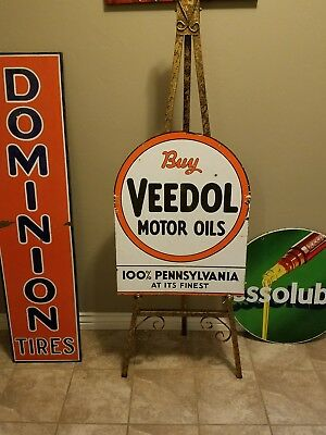 veedol motor oil porcelain sign