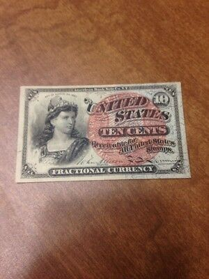 Fractional Currency Note 10 Cent. Ten Cent
