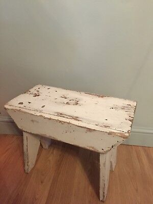Homemade Vintage Naive Milk Step Stool Rustic Country House