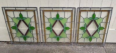 Three Stained Glass Windows (59 x 46.5 cms each) - collection from HD2 or SK23