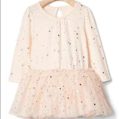 Baby Gap Girls Pink Tutu Party Dress 12-18 Months Stars