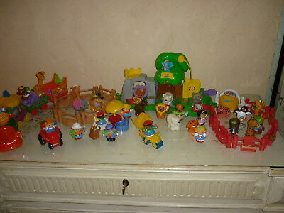 lot de little people fisher price  theme zoo