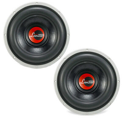 "Pair of Lanzar OPTI1213D 12"" Subwoofer Driver 3000W Max Dual 1.3 Ohm Vc"