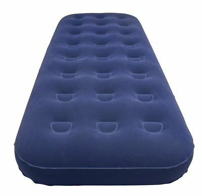 Inflatable Single Flocked Air Bed Camping Luxury Relaxing Blow Airbed Mattress