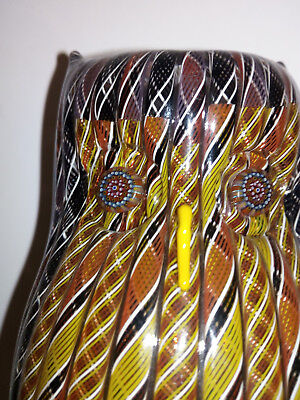 Mike Hunter Glass Owl Twists Glass Studio Excellent Condition #2