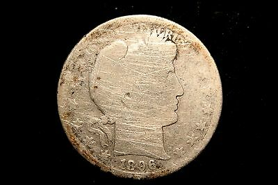 1896 S  Barber Silver Half Dollar,  GOOD , 90% US Coin, Better Date!