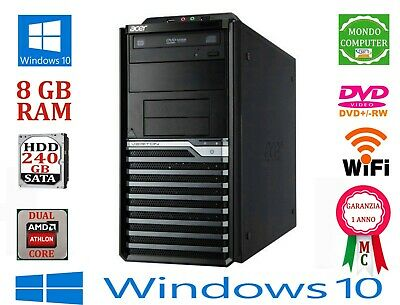 Computer Hp Compaq / Intel Dual Core 3.0 Ghz/ 6 Gb Ram / Windows 7 Pro - Licenza