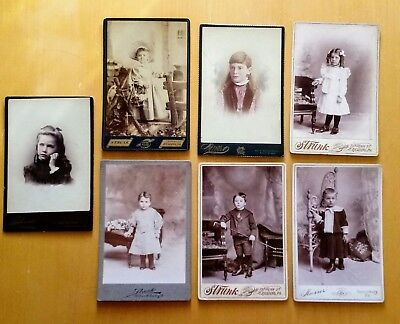 Lot of 7 Vintage Antique Photograph Proofs with Advertising