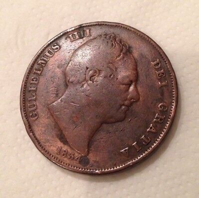William IV one penny 1834 coin