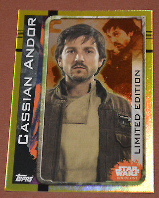 STAR WARS ROGUE ONE Topps LIMITED EDITION GOLD FOIL card - LEMPB Cassian Andor