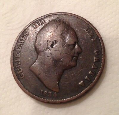 William IV one penny 1831 coin