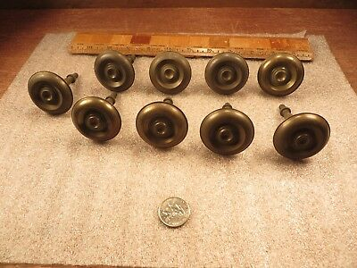 8 Matching Antique/Vintage Brass Door Dresser Cabinet Drawer Pulls Restoration