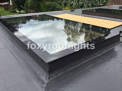Skylight Flat Roof Rooflight T/G Self Clean Glass 600x1200mm with Kerb OVERSTOCK