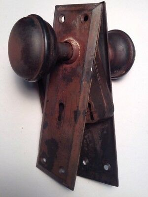 Vintage-Antique Sargent Mortise Lock Set FREE SHIPPING.