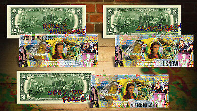 SOLO - A STAR WARS STORY Han Solo Hand-Signed by Rency Genuine $2 Bills SET OF 3