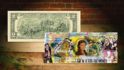 SOLO - STAR WARS Movie Han Solo Signed by Rency Genuine $2 US Bill *Money Quote*