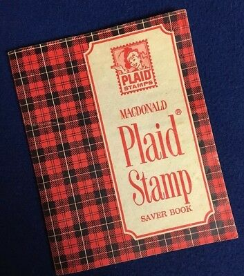 1968 Plaid Stamp Saver Book A&P Grocery Store With Extra Stamps Great Color