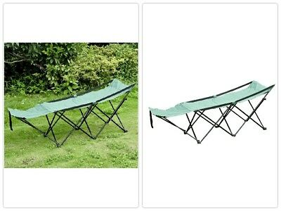 portable camping bed cot hammock adventure camp sleeping cot folding green steel portable camping bed cot hammock adventure camp sleeping cot      rh   picclick