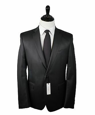 VERSACE COLLECTION - Notch Lapel  Black Suit With Muted Sheen - 44R