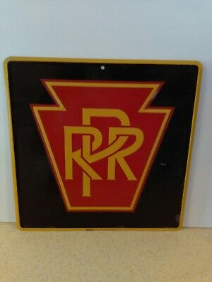 "Pennsylvania Railroad11"" X 11""  Aluminum Embossed Sign With Protective Coating"