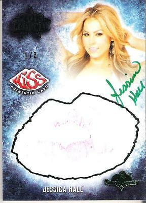 2013 Benchwarmer National Authentic Autograph Kiss Card Jessica Hall 1/3 Green
