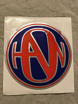 RARE Hanson Middle Of Nowhere 1997 Logo Sticker Red/Blue
