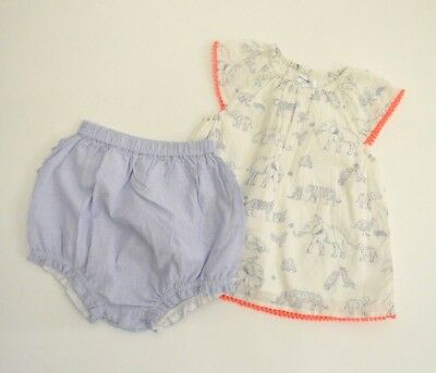 Baby Boden Girl's Animal Top and Ruffled Bottom Size 18-24 Months NWT