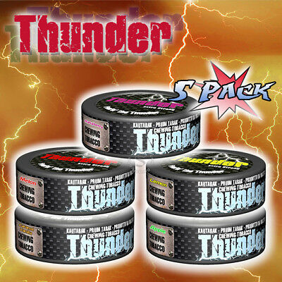 V2 Thunder Chew 5 Pack - Different Flavours - Chewing Tobacco. No Snus!