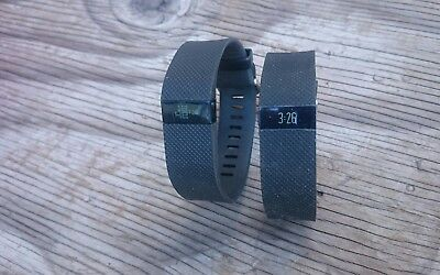 Lot of 2 FITBIT Charge HR, Activities Heart Rate Tracker (Large Black) Fb-405