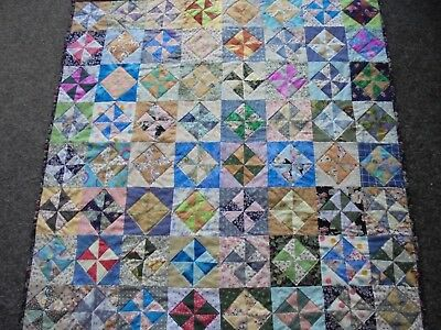 Handcrafted Lap or small Quilt. patchwork.  97 cm square approx.  all cotton