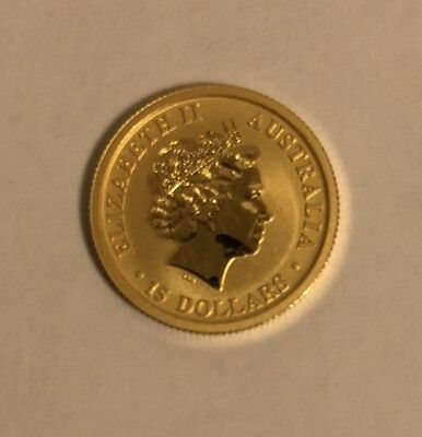 2017 1/10 oz $15 .999 Gold Australian Kangaroo Perth Mint