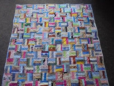 Handcrafted Lap or small Quilt. patchwork.  110 cm square  approx.  all cotton