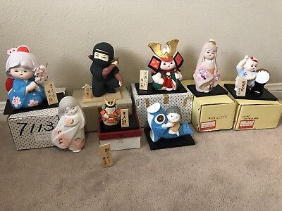 Japanese Statues Figurines Lot Of 8