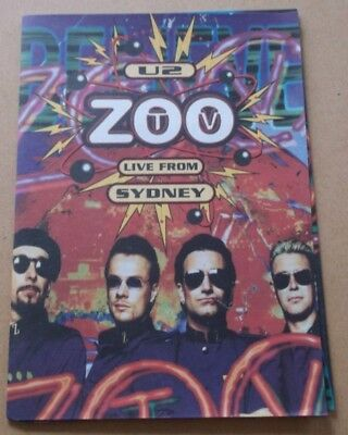 U2 ZOO TV LIVE from Sydney 1994 UK Promo only Booklet / Sticker sheet