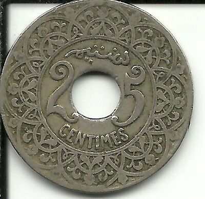 Morocco   25 Centimes 1921 Y# 34  (French PROTECTORATE)