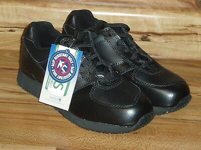 38ae667a629 WearGuard Women s Black Leather Work Lace-Up Shoes - US Sz 8.5M - New