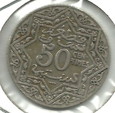Morocco   50 Centimes 1924 Y# 35  (French PROTECTORATE)